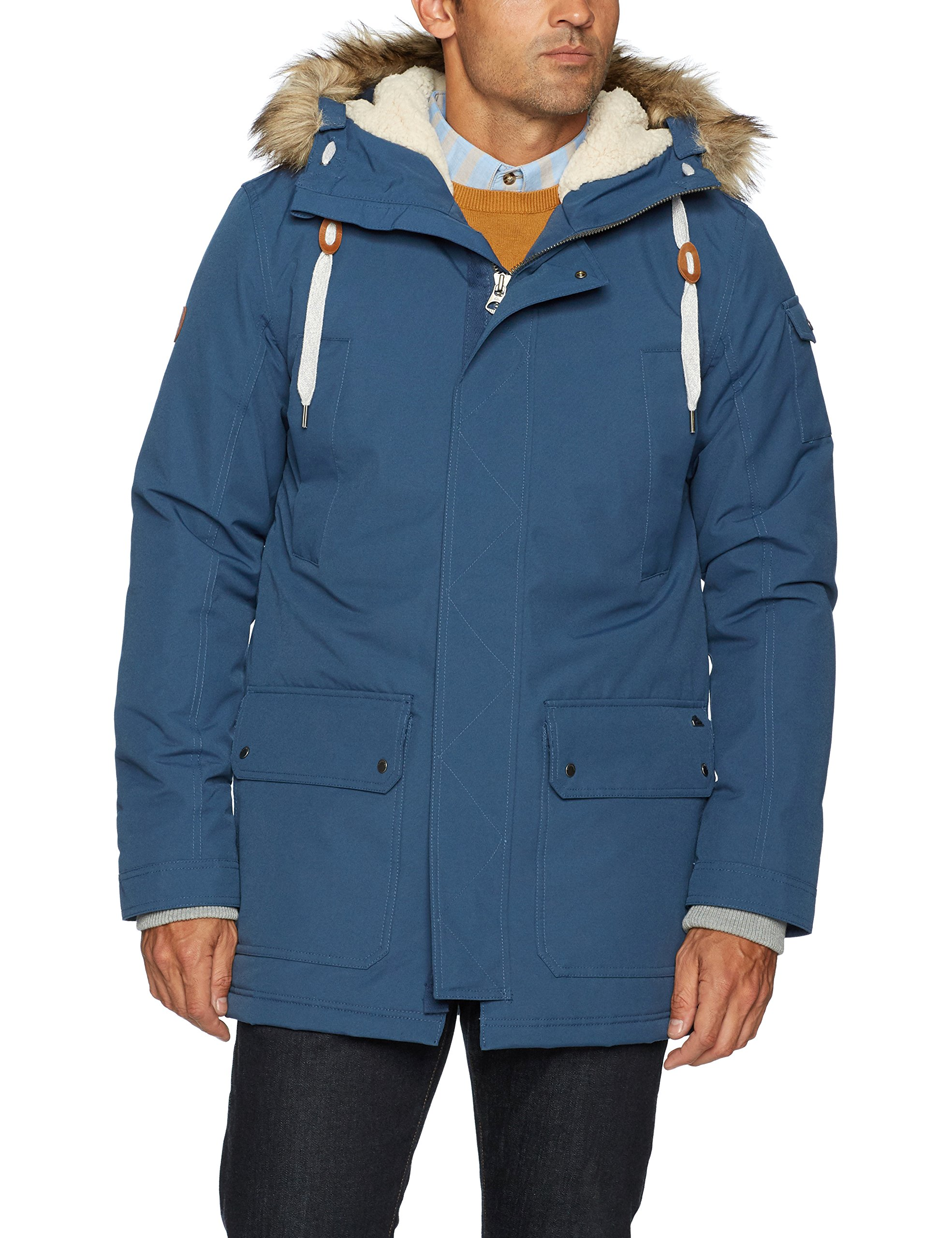 Quiksilver Men's Ferris Parka 10K Snow Jacket, Dark Denim, 2XL