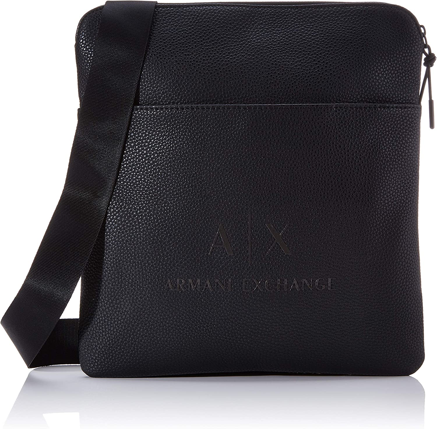 Armani Exchange - Medium Flat Crossbody Bag, Bolso bandolera Hombre