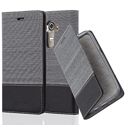 11 opinioni per Cadorabo- Custodia Book Style per LG G4 Design Tessuto- Similpelle con Chiusura