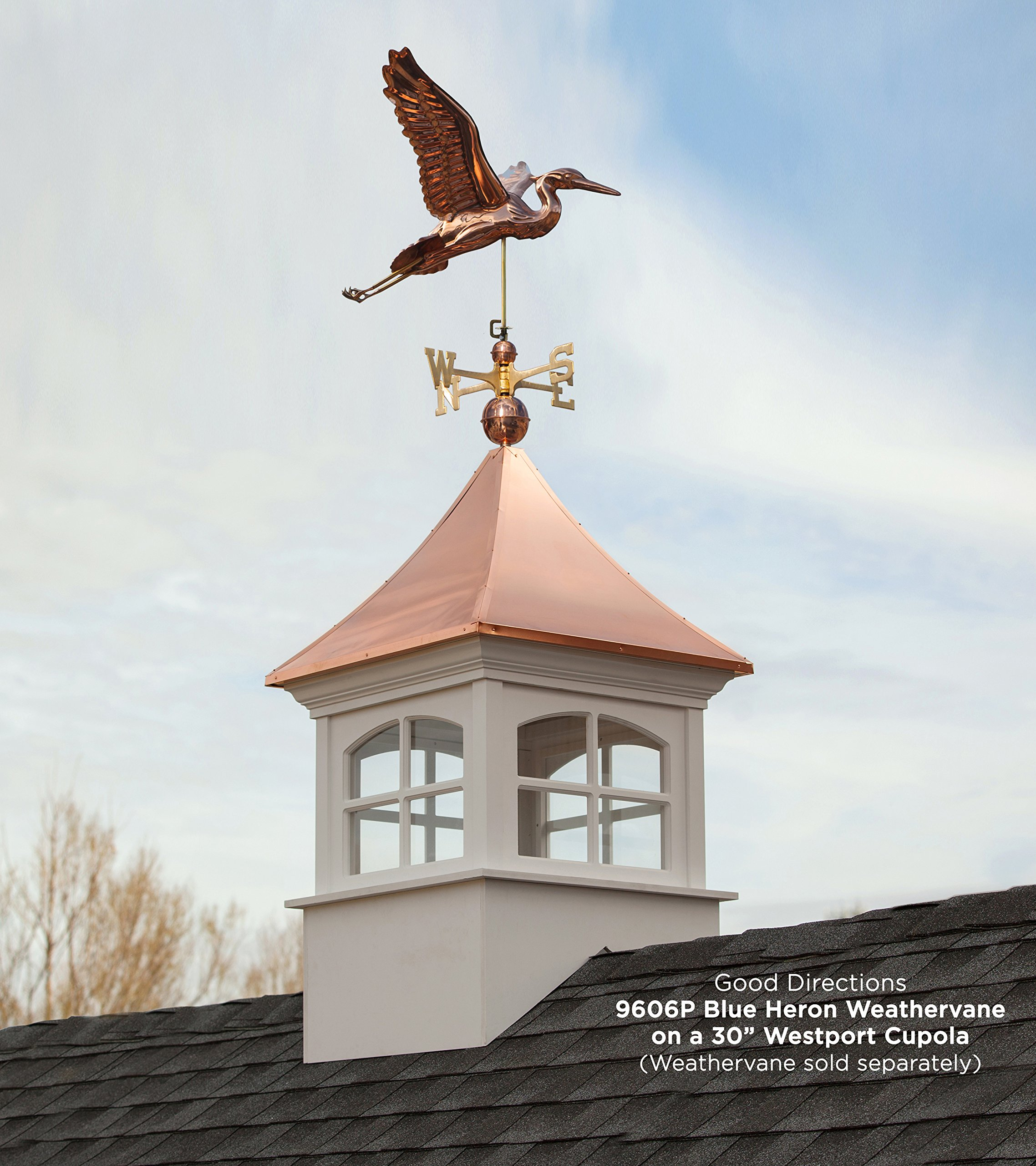 Good Directions Westport Vinyl Cupola with Copper Roof, 26'' x 42'' by Good Directions (Image #3)