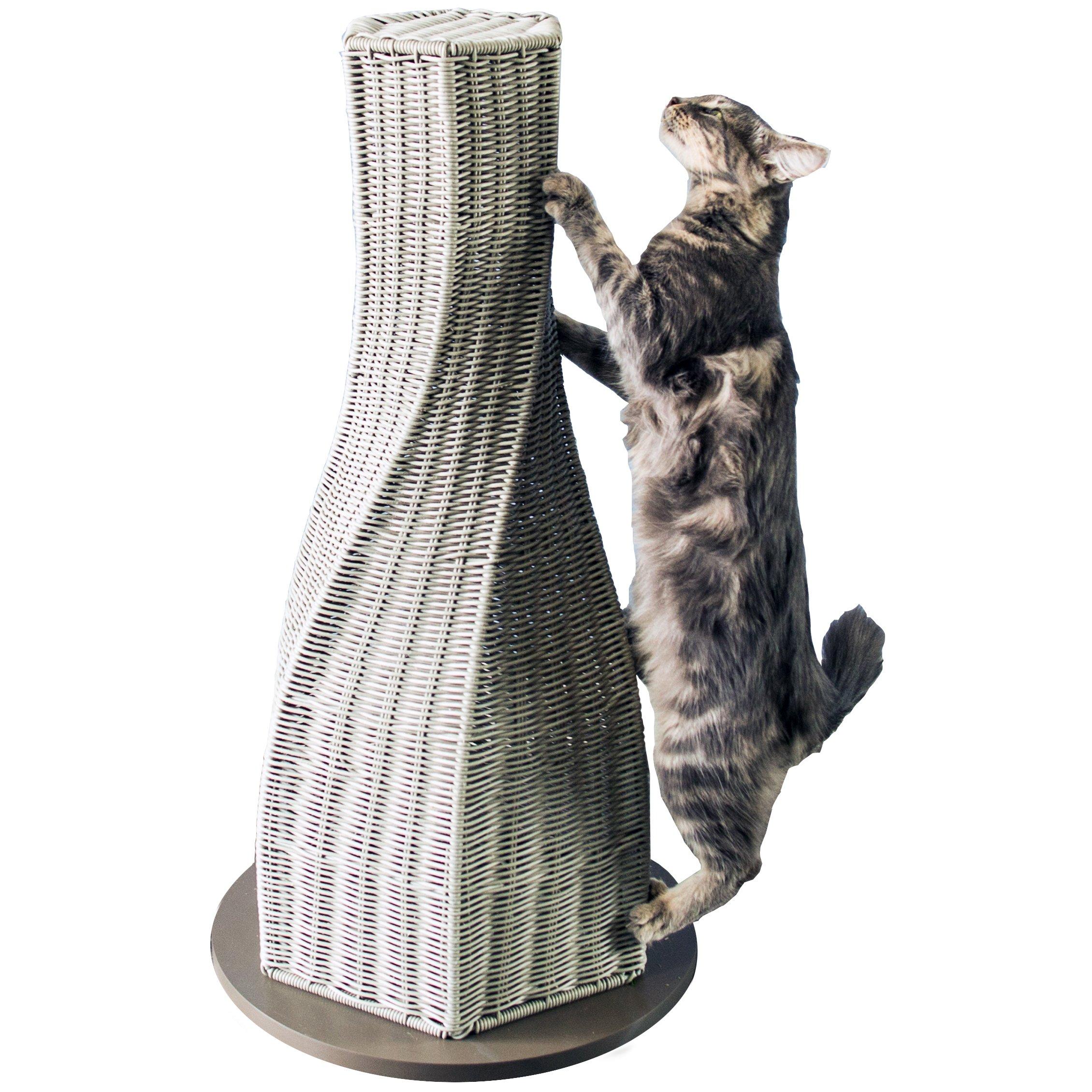 The Refined Feline Calypso-SK-AMZ Calypso Cat Scratcher Post, Smoke by The Refined Feline