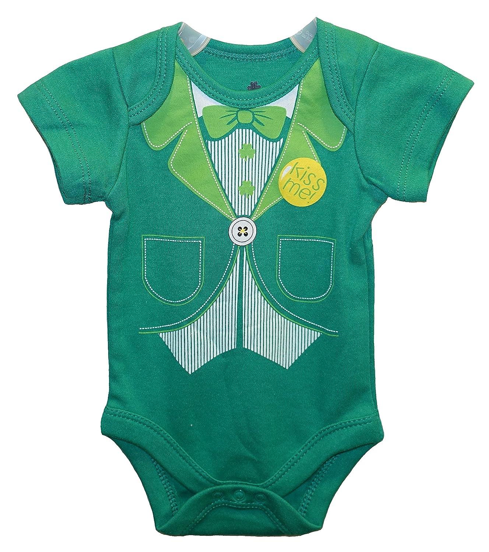 Amazon.com: KISS ME! St. Patrick\'s Suit and Tie Baby Boys\' Bodysuit ...