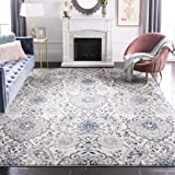 Safavieh Madison Collection MAD600C Bohemian Chic Paisley Area Rug, 10' x 14', Cream/Light Grey