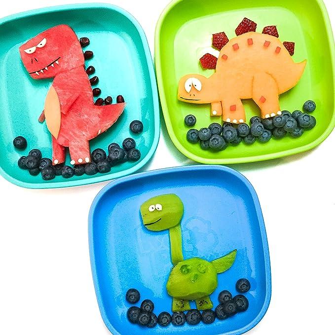 re-play - Platos de material reciclado | sin BPA | Estable Vajilla para niños amarillo amarillo: Amazon.es: Bebé