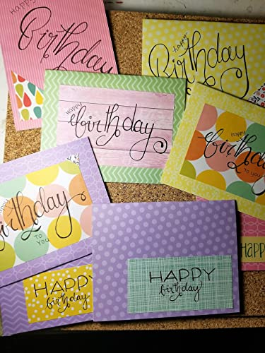 Amazon Bright And Colorful Birthday Cards With Envelopes Pack