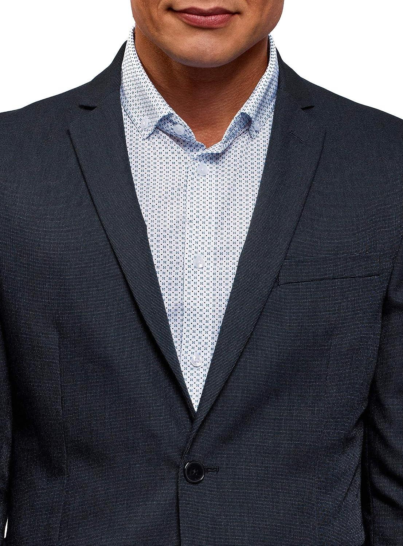 oodji Ultra Mens Slim-Fit Buttoned Blazer