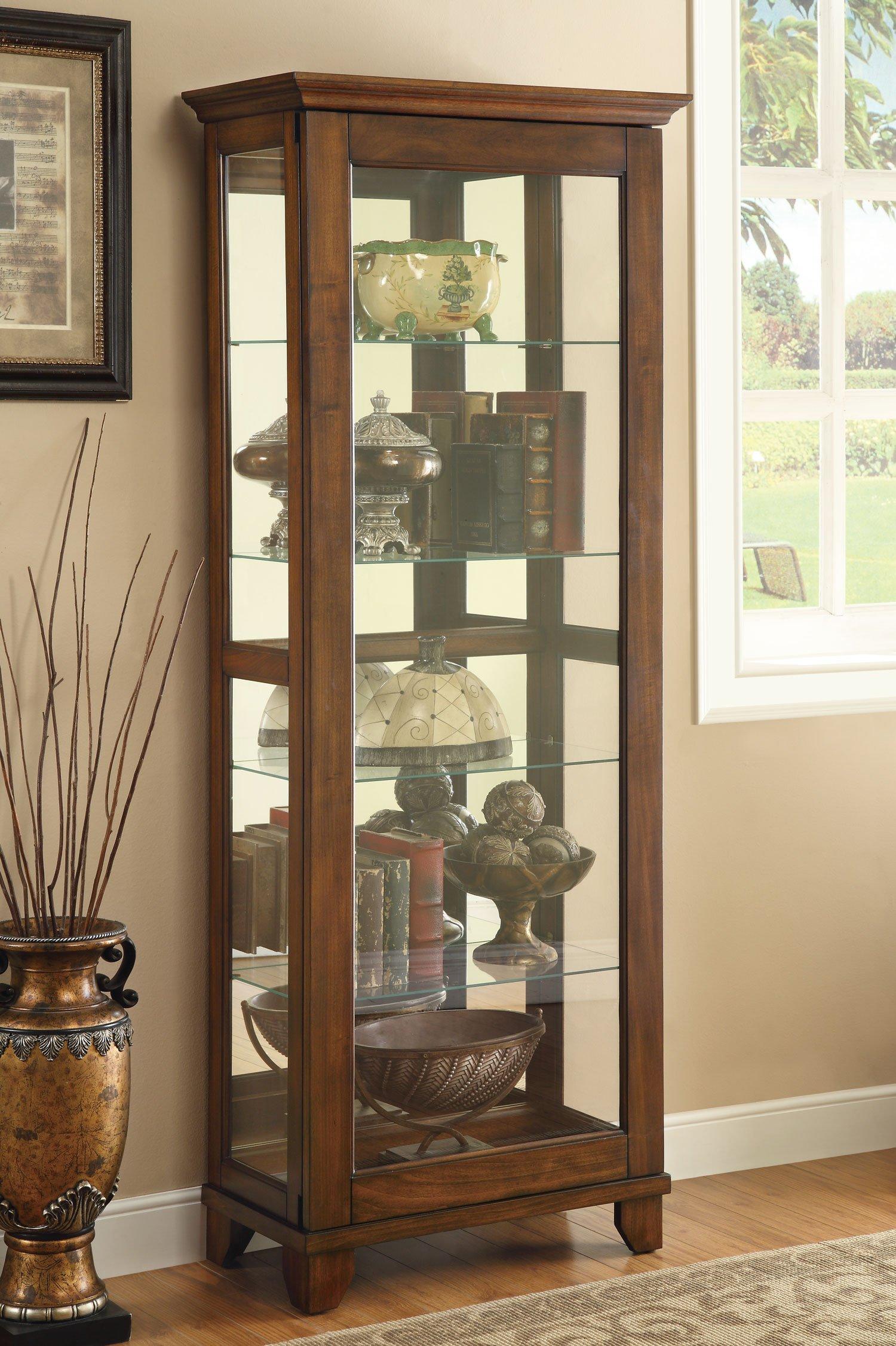 Coaster Home Furnishings Casual Curio Cabinet, Warm Brown