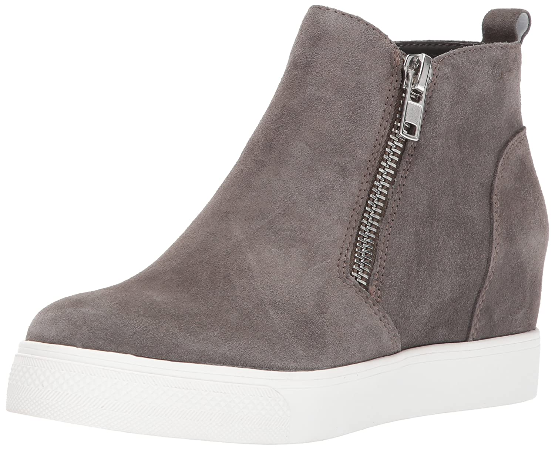 Steve Madden Women's Wedgie Sneaker B06XKLT2YX 8.5 B(M) US|Grey Suede