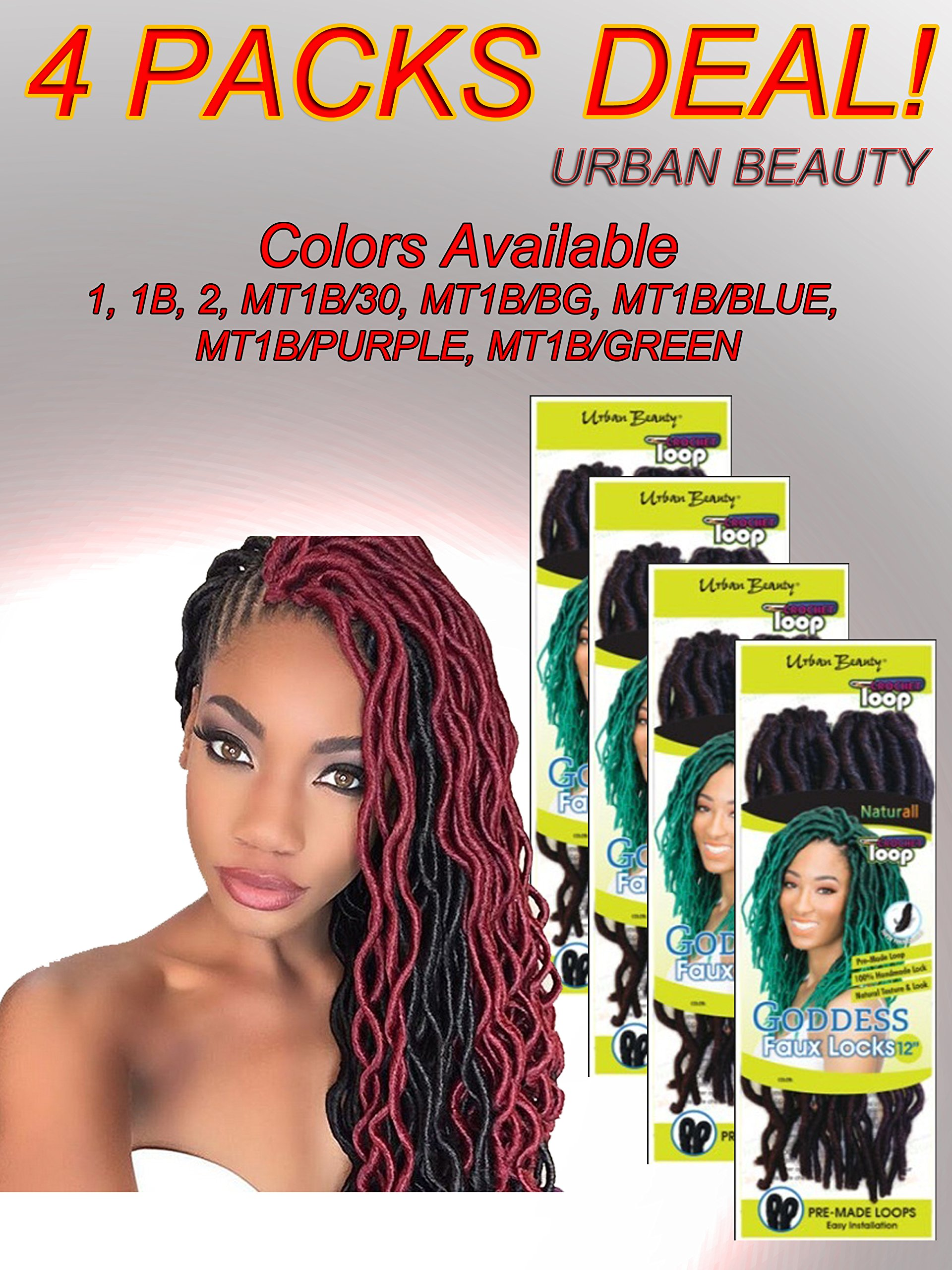 Amazon 4 Packs Of Urban Beauty Naturall Goddess Faux Locks 12