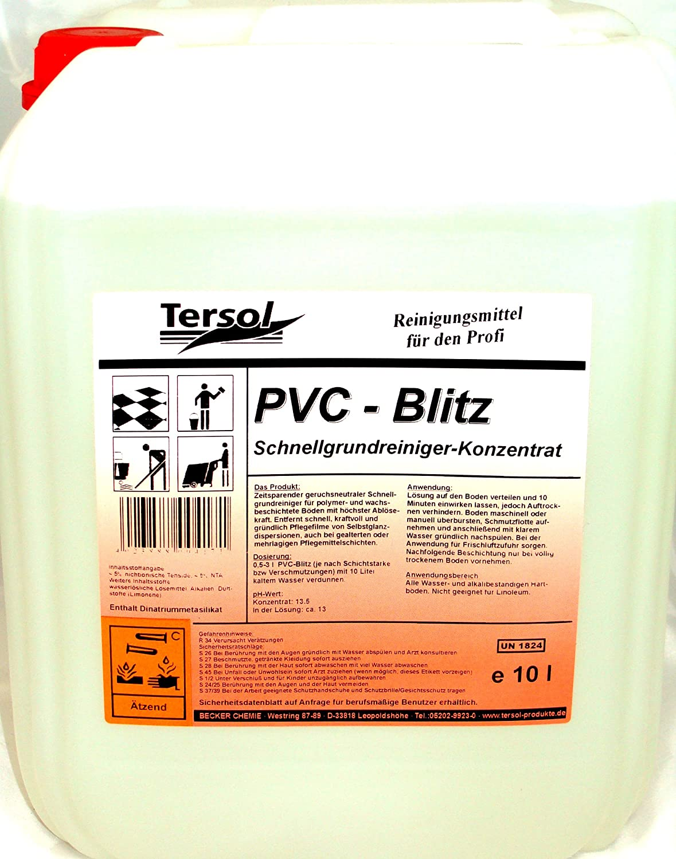 Tersol PVC-Blitz Geruchsneutraler Schnellgrundreiniger, 1 x 10 Liter Kanister