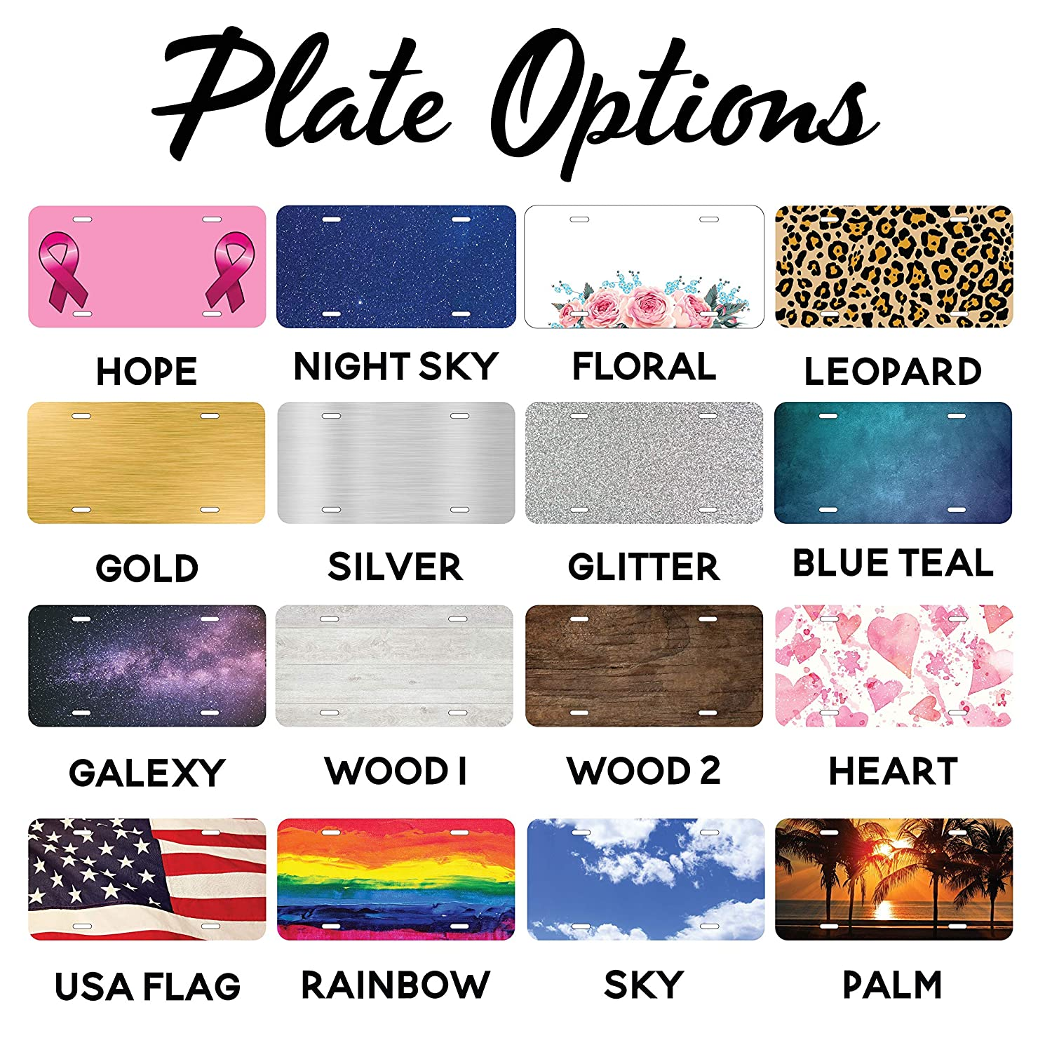 Personalize Car Tag Aluminum Novelty License Plates Add Photo Text or Logo Monogram License plate Custom License Plate for Cars