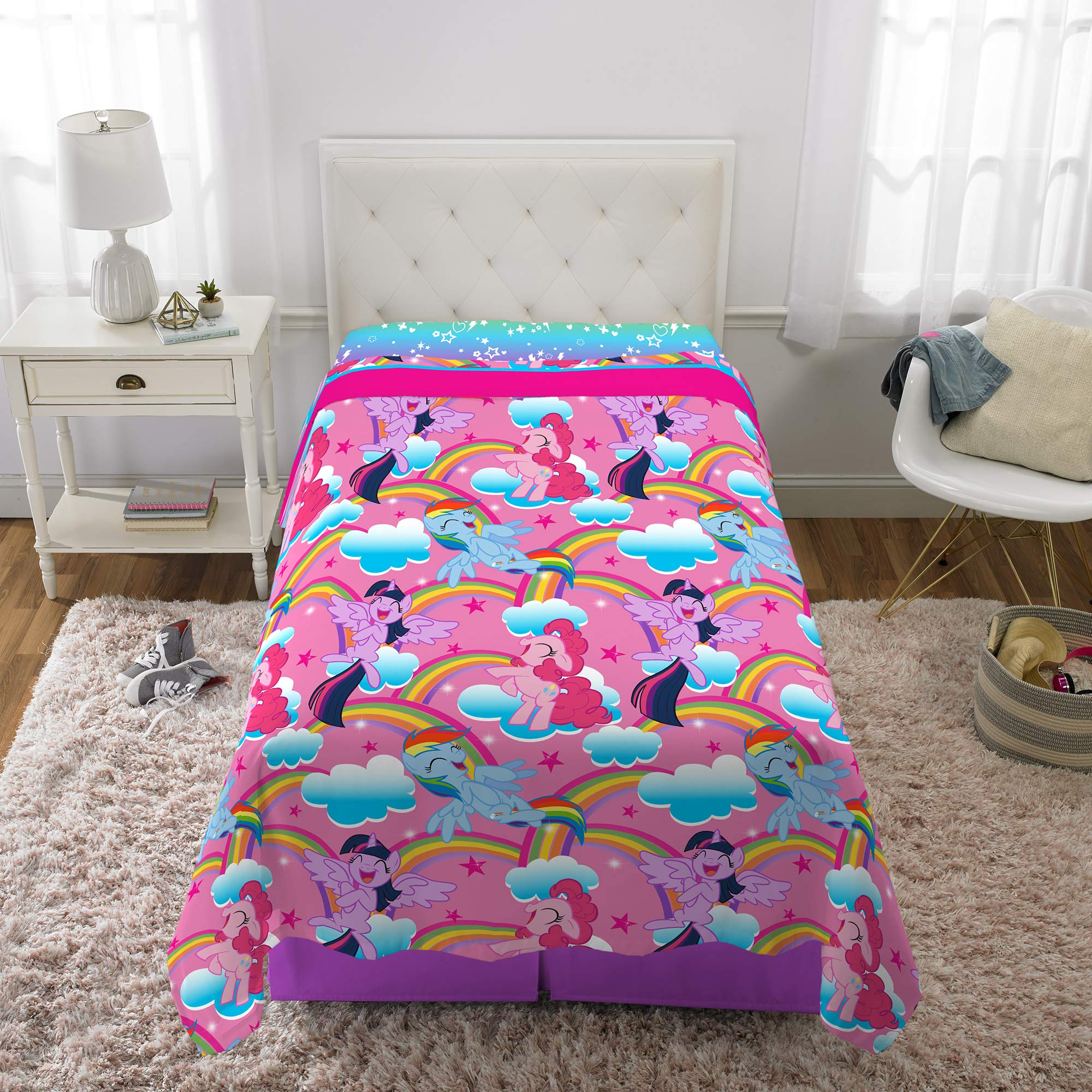 Franco Kids Bedding Super Soft Microfiber Sheet Set, 3 Piece Twin Size, Hasbro My Little Pony by Franco (Image #6)