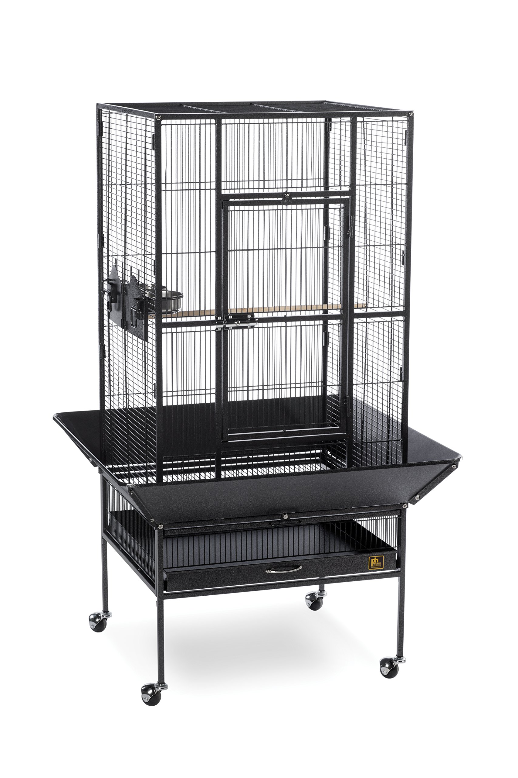 Prevue Pet Products 3352BLK Park Plaza Bird Cage, Black Hammertone by Prevue Pet Products