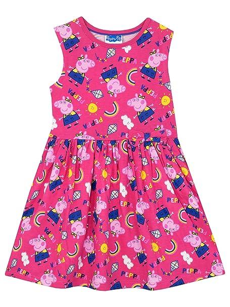 Peppa Pig Vestido para Niñas Peppa Pig - 6 - 7 Años