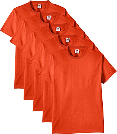 Magliette fruit of the loom heavy t-shirt (pacco da 5) uomo 61-212-0