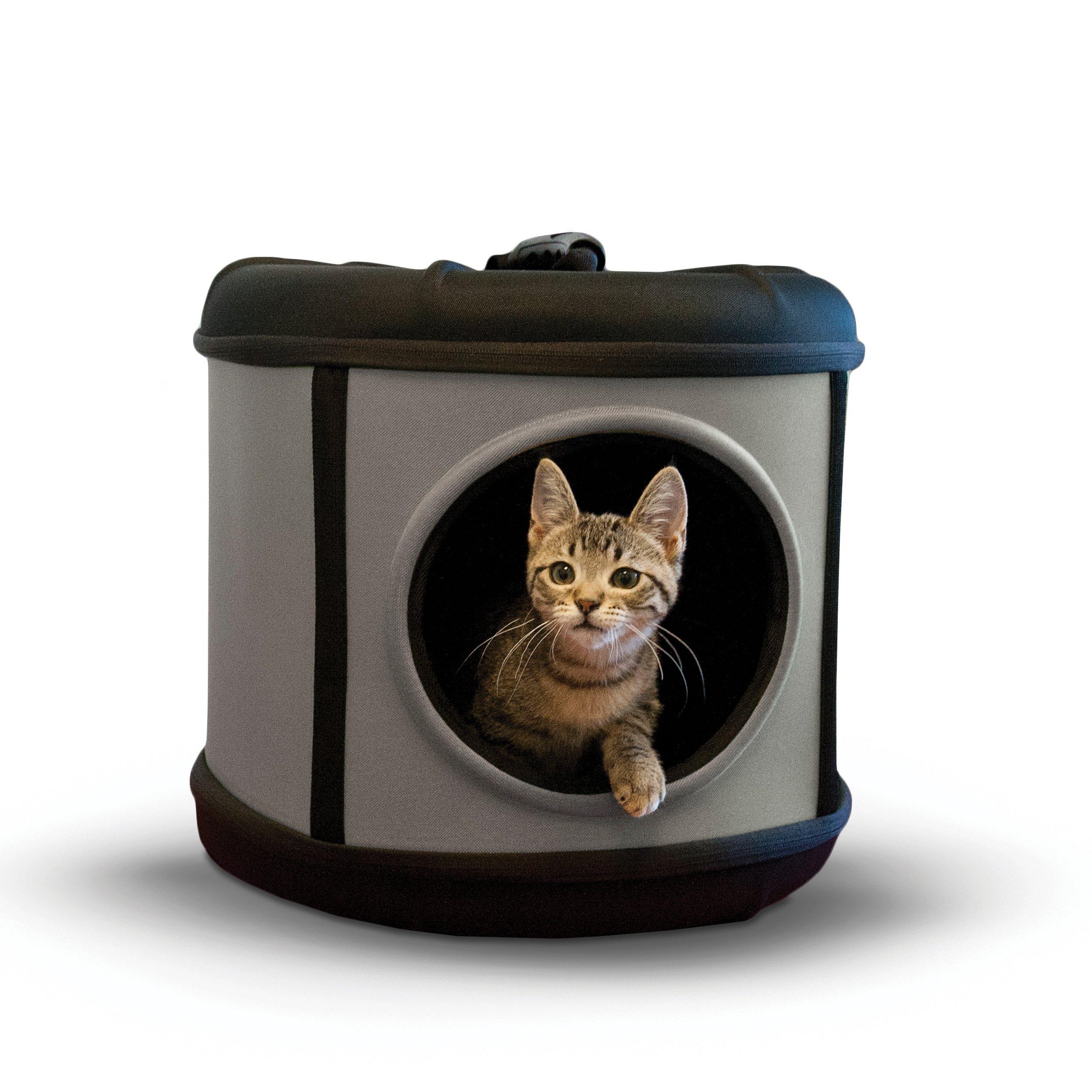 K&H Pet Products Mod Capsule Pet Carrier & Shelter Gray/Black 17'' x 17'' x 15.5''