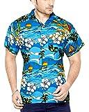 CLUB CUBANA Men's Casual Shirt 7109322937001_Blue_Large