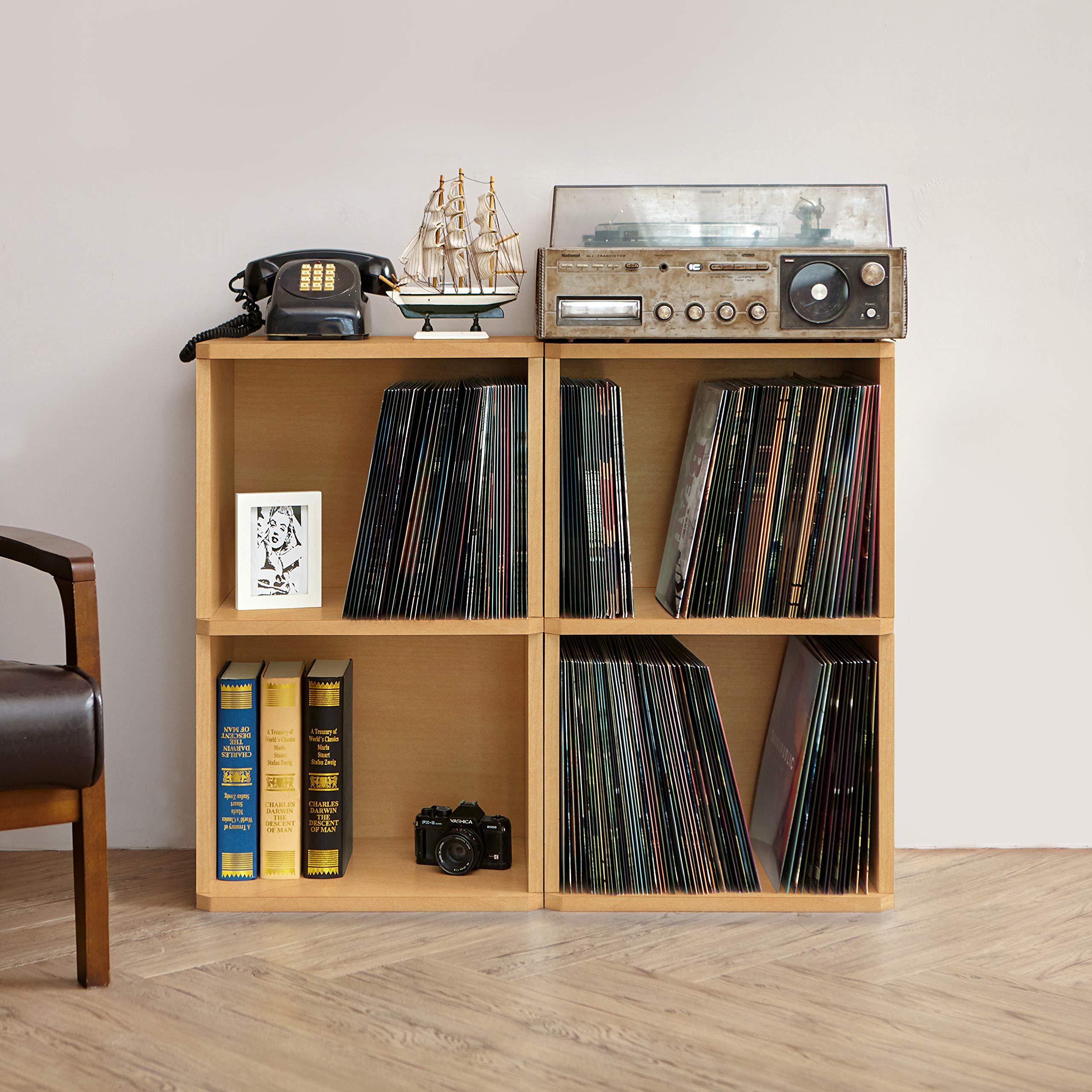 Music Latest Collection Of Eco 2-shelf Vinyl Lp Record Album Storage Cube Black Lifetime Guarantee