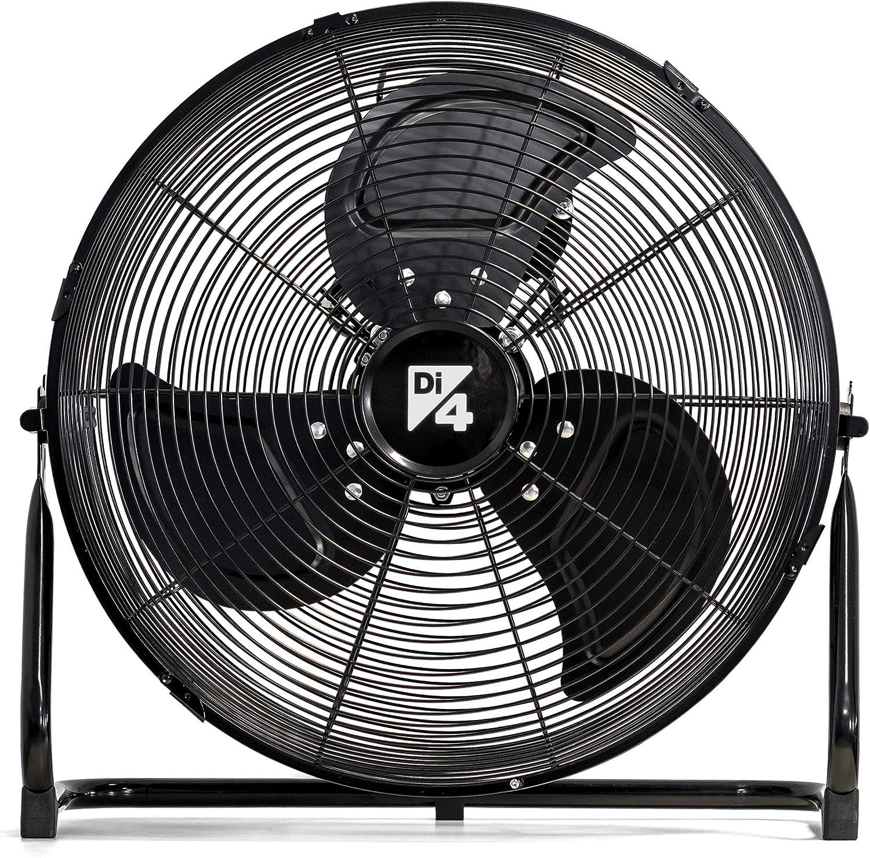 Di4 Aria Forze 35-Ventilador de Pie, 35cm Diámetro, 3 Hélices e Inclinación Regulable