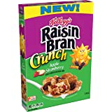 Kellogg's Raisin Bran Crunch, Breakfast Cereal, Apple Strawberry, Good Source of Fiber, 14.5 oz Box(Pack of 10)
