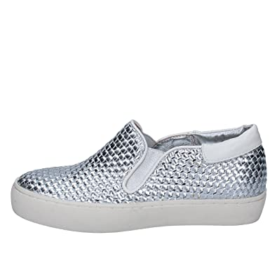 930ac124d86 SARA LOPEZ Loafers-Shoes Womens Leather Silver 7 UK  Amazon.co.uk ...