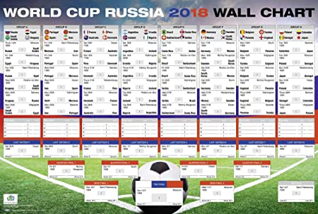 Close Up World Cup  Russia Schedule Xl Poster All Groups And Matches