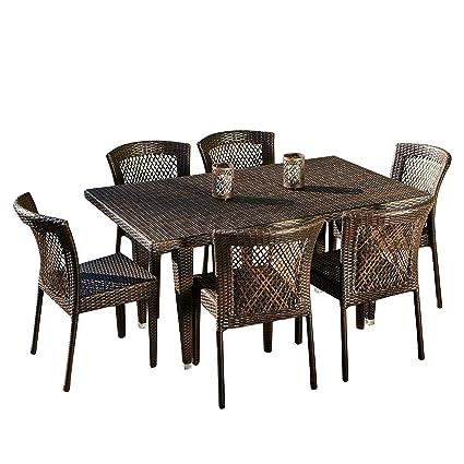 Amazon Com Great Deal Furniture Dana Point 7 Piece Outdoor
