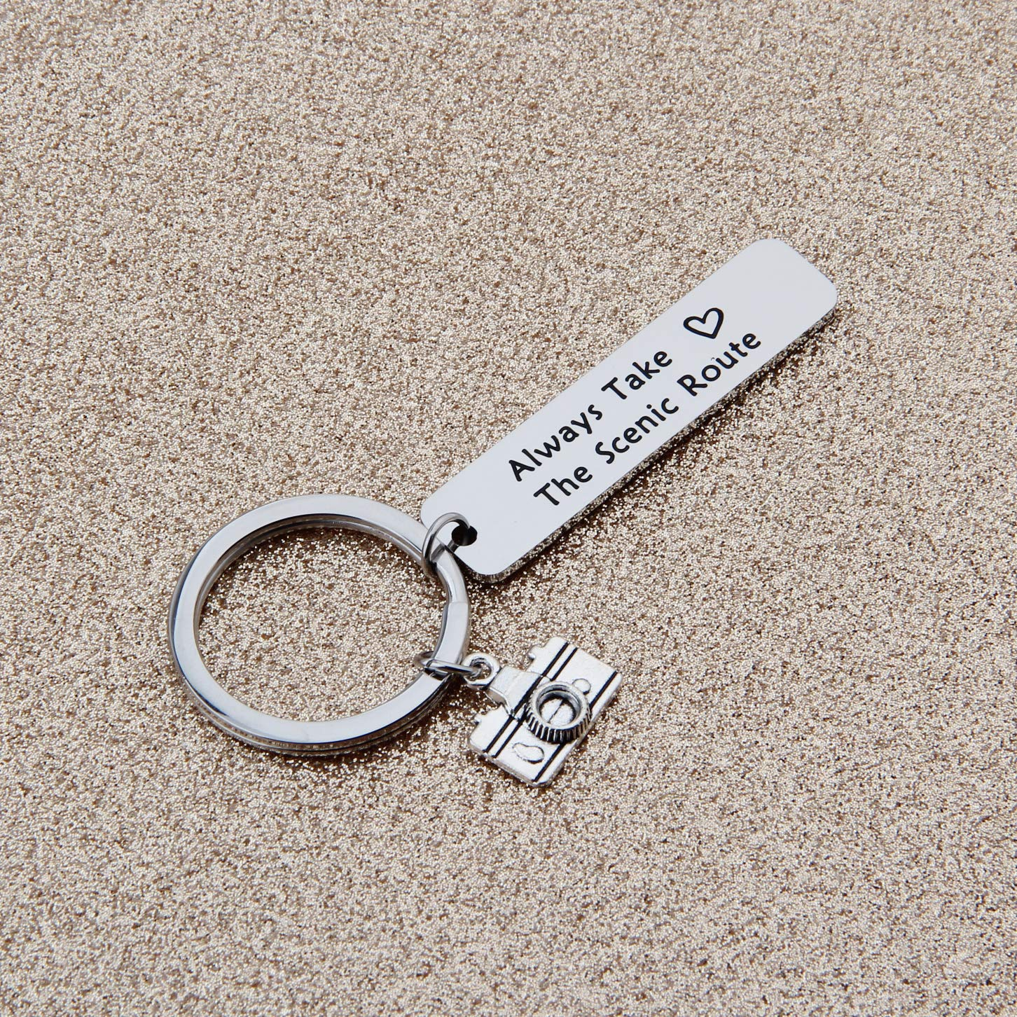 MYOSPARK Photographer Gift Travelers Keychain Adventure Gift Inspirational Jewelry Wanderlust Gift
