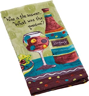 Kay Dee Designs Cotton Terry Towel, Wine is The Answer
