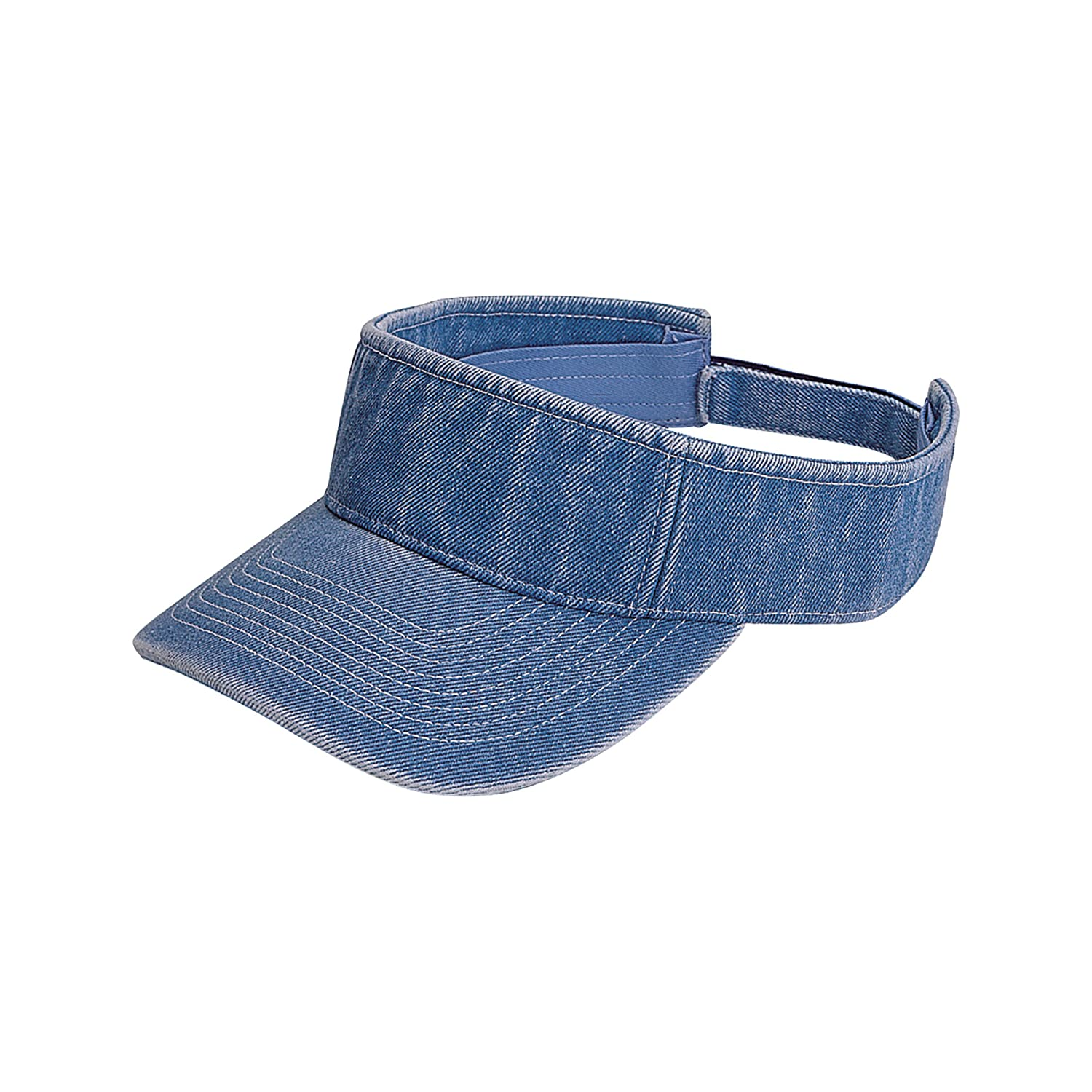 MG Unisex Pro Style Washed Denim Visor-4029 4029-D.NAVY