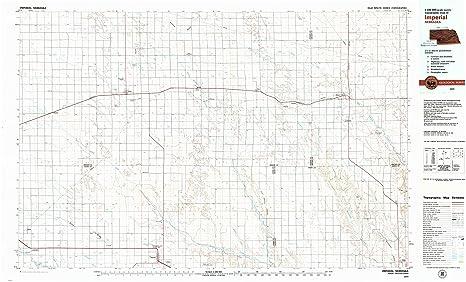 Imperial Nebraska Map.Amazon Com Yellowmaps Imperial Ne Topo Map 1 100000 Scale 30 X