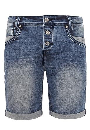 Sublevel Damen Jeans Bermuda-Shorts mit Aufschlag   Bequeme Kurze Hose mit  Used Waschung  Amazon.de  Bekleidung 89d4b0755e
