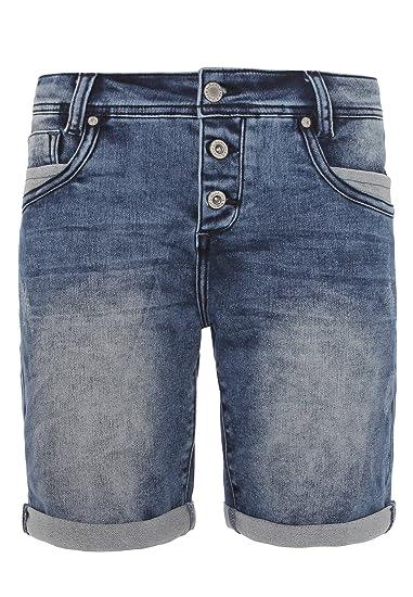 6f69367f7031a1 Sublevel Damen Jeans Bermuda-Shorts mit Aufschlag