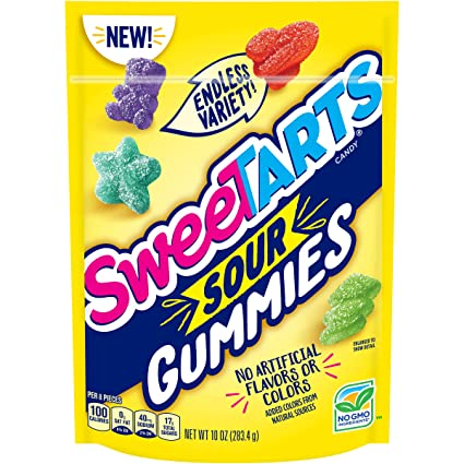 Nestle Sweetart Sour Gummy - Bolsa de soporte para chupete ...