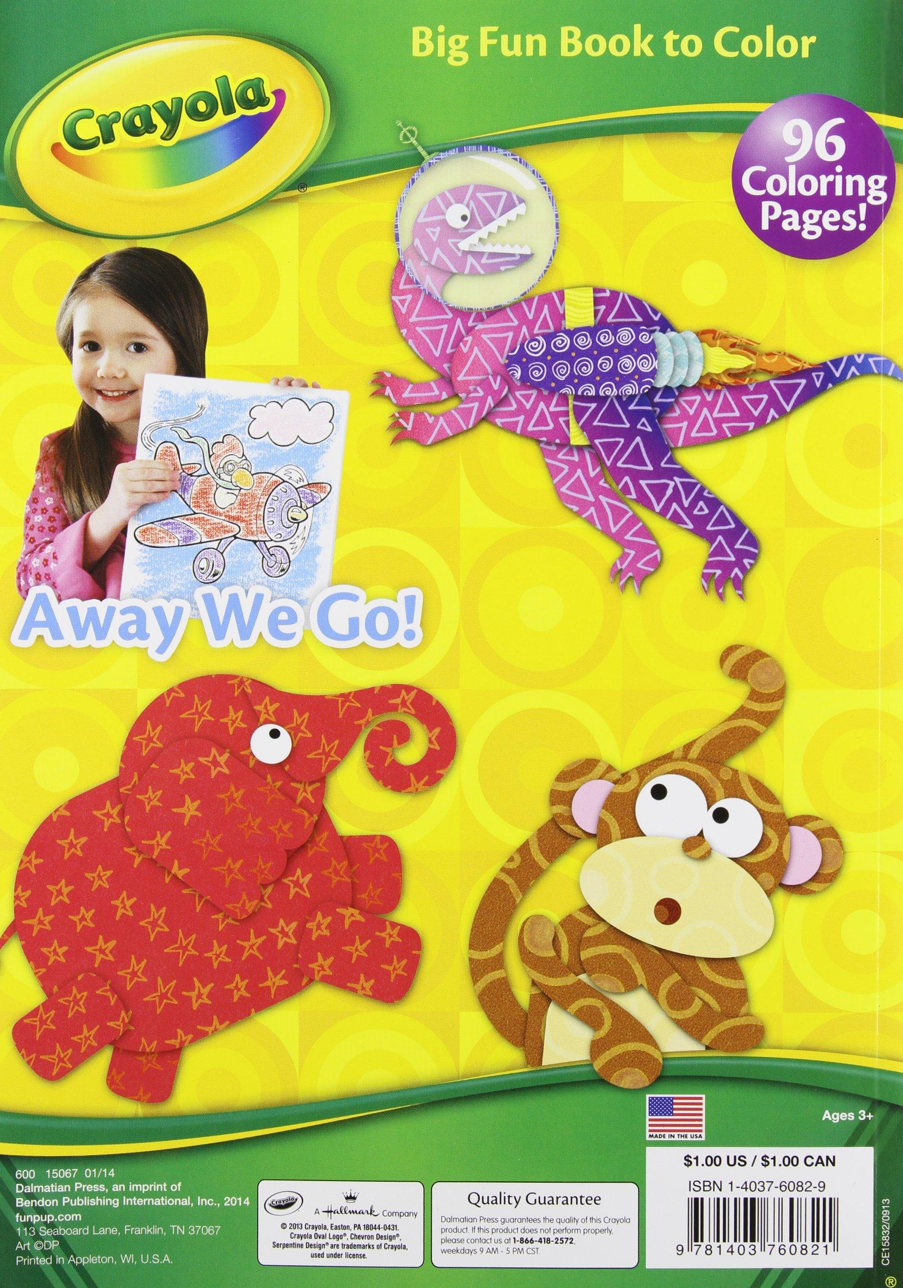 Fantastic fun book to color - Crayola Big Fun Book To Color Assortment Dalmatian Publishing 9781403760821 Books Amazon Ca