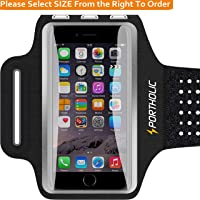 Deals on PORTHOLIC Sweat Resistant Phone Running Armband 7.5 to 13-in