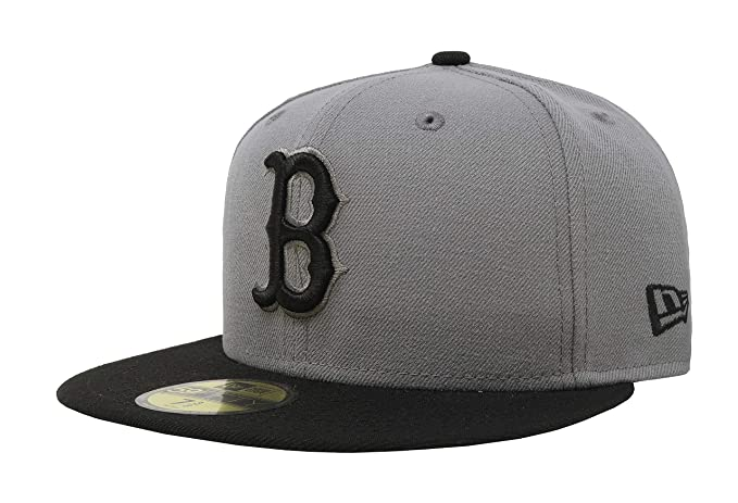 ca8763a78 Amazon.com: New Era 59Fifty MLB Basic Boston Red Sox Fitted Gray ...
