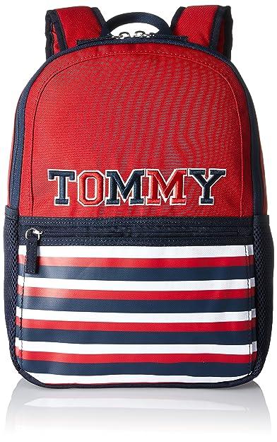 Tommy Hilfiger Kids Th Patch Backpack M, Sacs à dos gar?on, Blau (Printed Patch), 13x40x29 cm (B x H T)