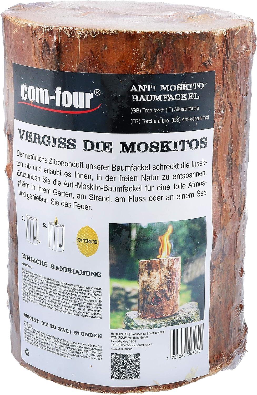 Finnenfackel f/ür Outdoor Kochstellen com-four/® 5X Schwedenfeuer mit Anz/ünddocht Gartenfackel Baumfackel