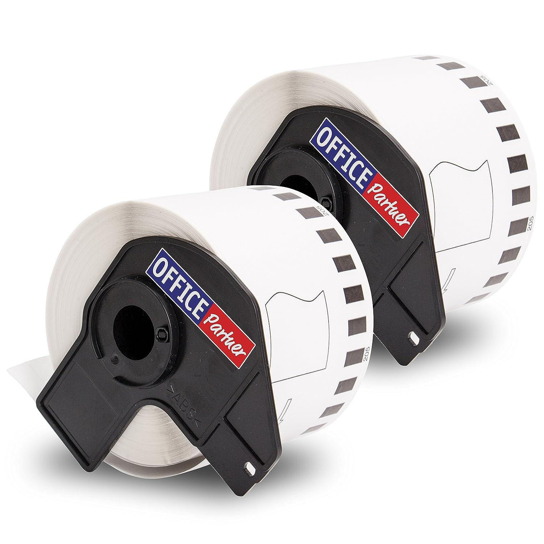 QL700 QL560 QL710 QL650 10x kompatible Endlos-Etiketten f/ür Brother DK-22205 QL570 QL720 QL580 62mm x 30,48m QL500 QL1060 QL550 Brother P-Touch QL1050