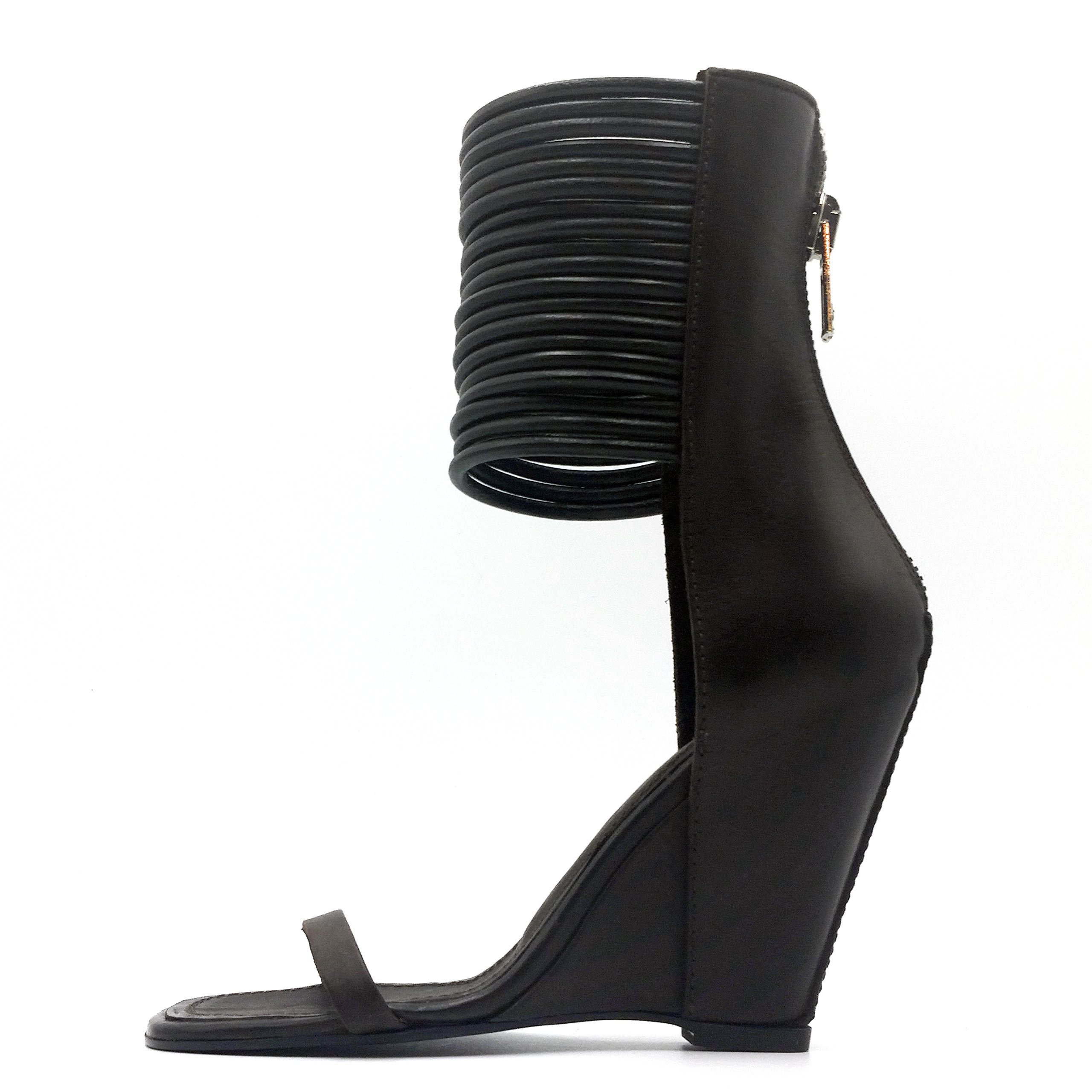 Rick Owens Burnished Calfskin Letaher 'Cord Boot' Sandal (41 IT / 11 US)