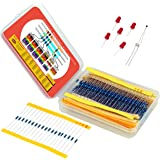 Resistor Assortment Kit - Set of 600 Assorted Resistors from 10 Ohm to 1 MOhm in a Box- Metal Film Resistors Variety Pack wit
