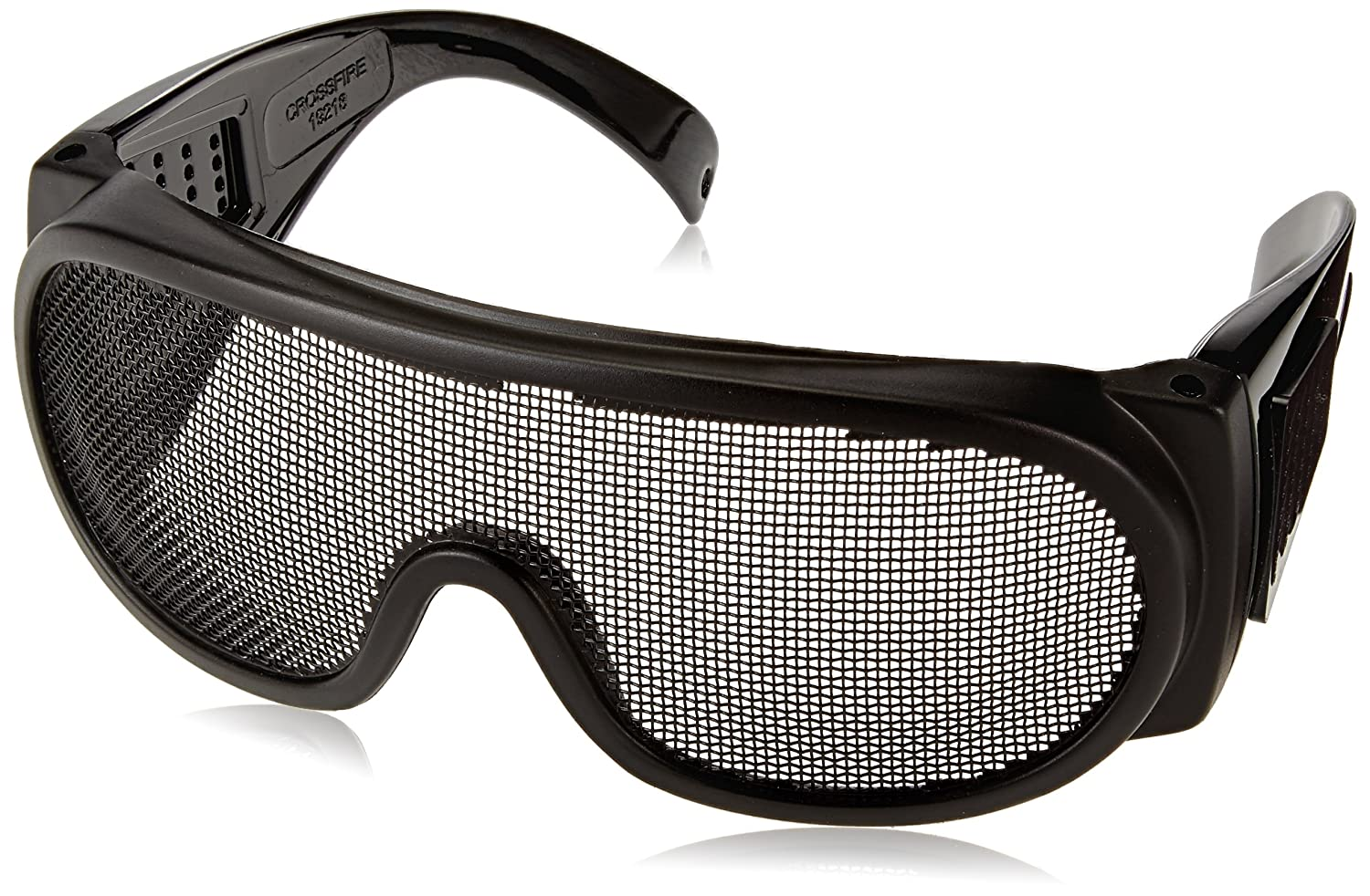 Crossfire 19218 Wire Mesh Safety Glasses - Matte Black Frame ...