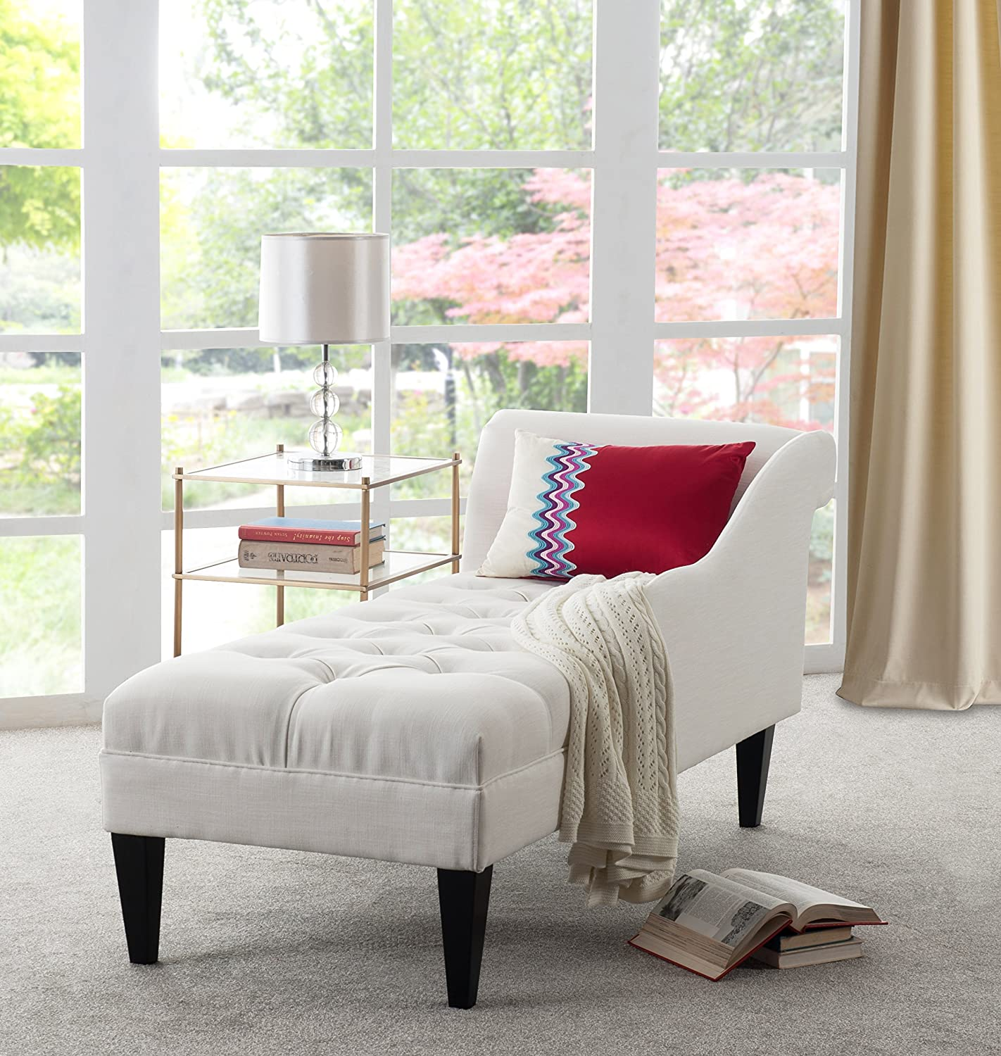 Jennifer Taylor Home 62020-879 Harrison Chaise Lounge White
