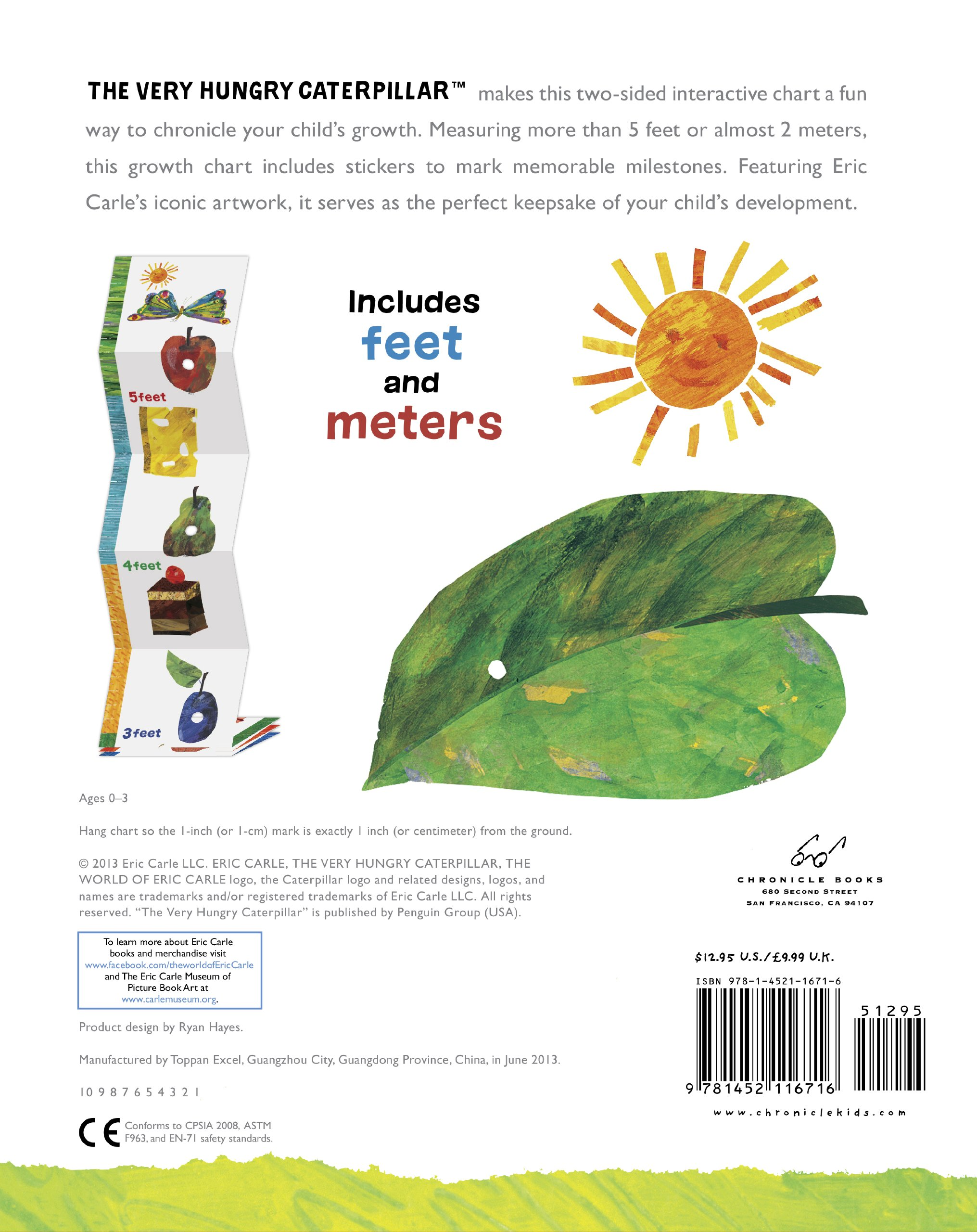 The world of eric carletm the very hungry caterpillartm growth the world of eric carletm the very hungry caterpillartm growth chart chronicle books 9781452116716 amazon books nvjuhfo Choice Image