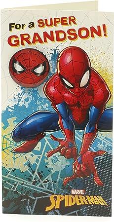 Amazon.com: Spiderman a mi nieto cumpleaños increíble ...