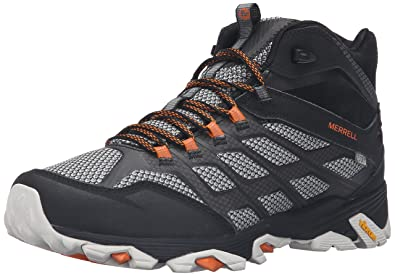 Men'S Merrell Black Mid Waterproof Moab Fst