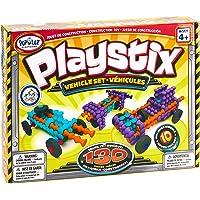 Playstix Vehicles Set Construction Toy Building Blocks 130 Piece Kit