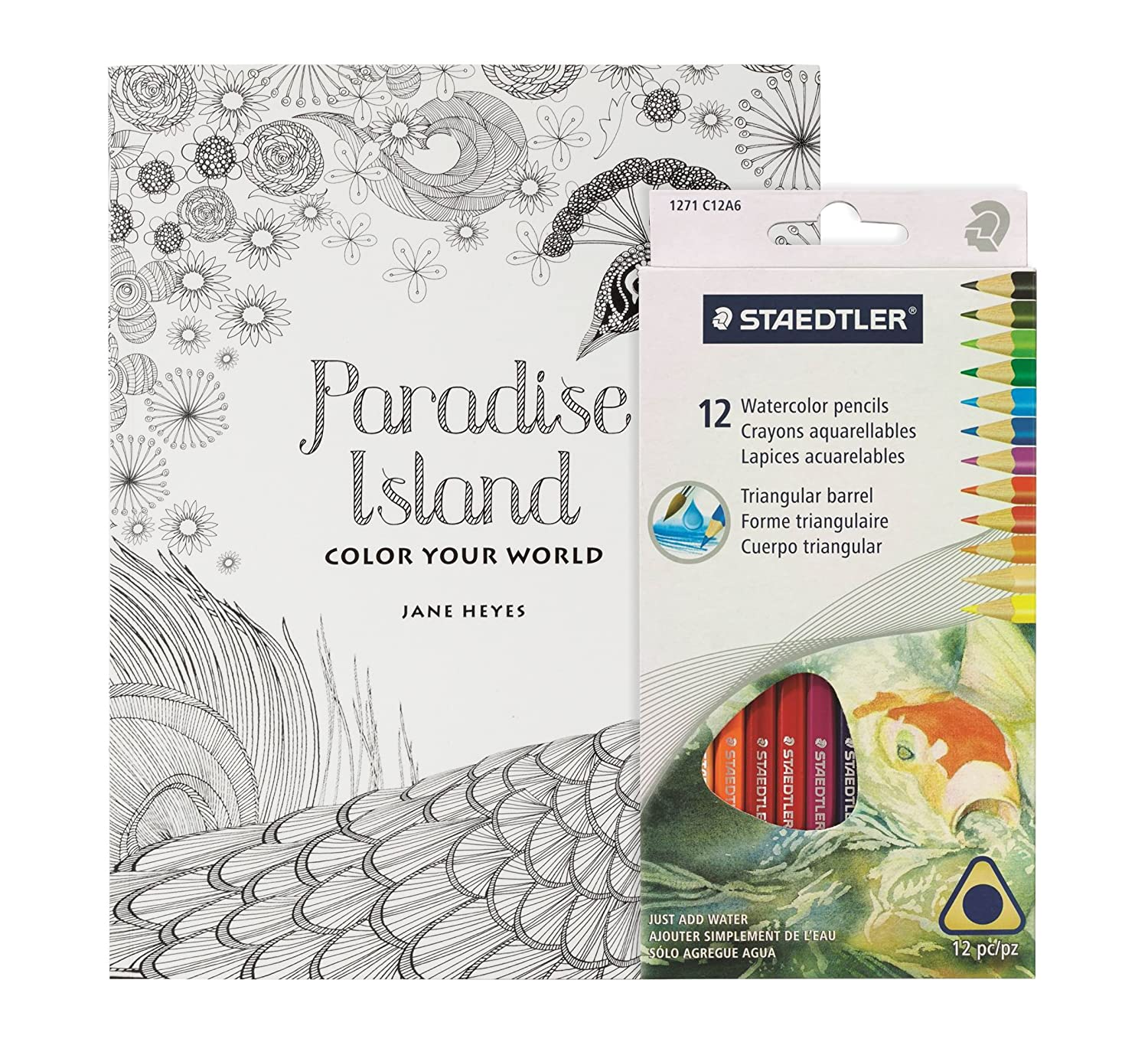 Amazon.com: Adult Coloring Book Set - 50 Page Detailed Coloring Book ...