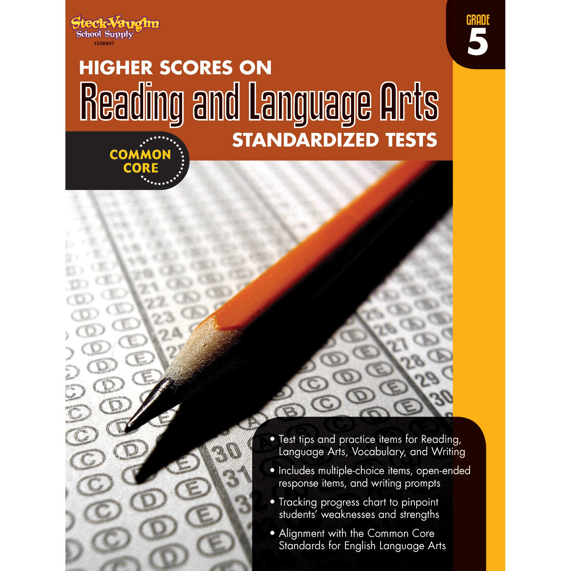 Higher Scores on Standardized Test for Reading & Language Arts: Reproducible Grade 5 by HOUGHTON MIFFLIN HARCOURT